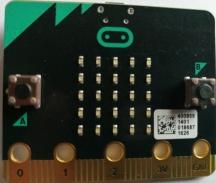 micro:bit - led-display og knapper