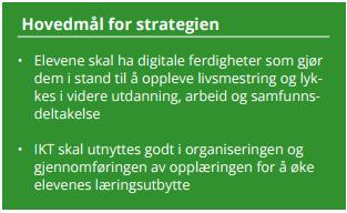 hovedmål digitaliseringsstrategi